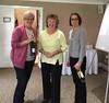 Wroxton Spring 2017. Anne East & Gill Leese  (with Jean Carter, event host, centre) :  Friday Pairs winners ;  Swiss Pairs winners