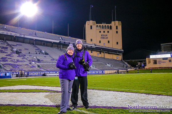 Northwestern Bands Photographers Dr. and Mr. Reck