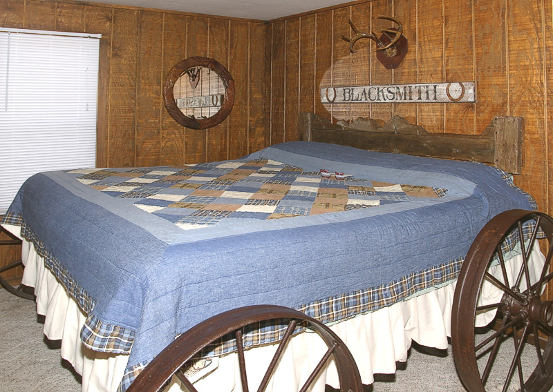 Taken with my Tamron 17-35 f/2.8-4 Lens. Bedroom #1 How about this Bed! Nothin like sleepin in a Wagon. Haha!