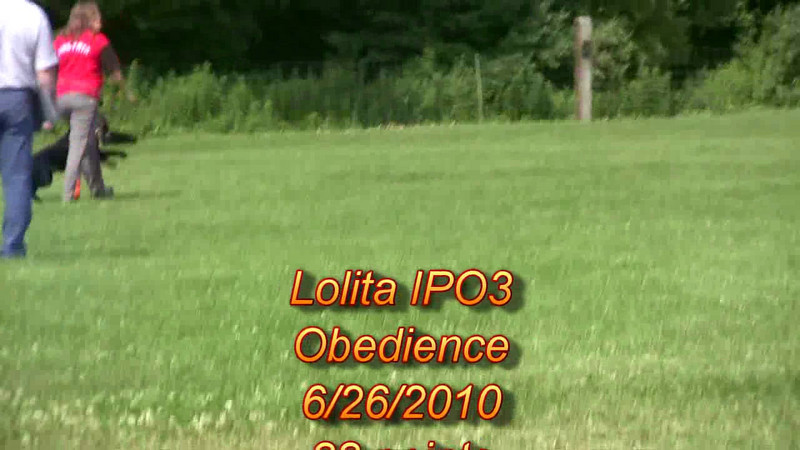 Lolita vom Haus Kiewel IPO3 obedience 88 points