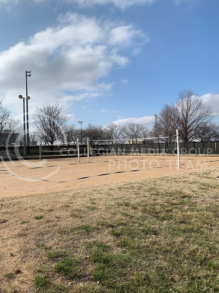 One area the recreation services has reopened is the sand volleyball courts outside the center, as they have been closed due to the pandemic. (Sophie Osborn   Collegian Media Group)