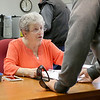 Shirley recall election was held on Monday January 30, 2017 at Town Hall. Checking in voters at the recall was election worker Kathie Bradley. SUN/JOHN LOVE