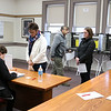 Shirley recall election was held on Monday January 30, 2017 at Town Hall. Voters check out after they fill out their ballots at the recall. SUN/JOHN LOVE