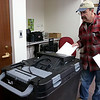 Shirley recall election was held on Monday January 30, 2017 at Town Hall. Casting his ballot is Paul Wilson. SUN/JOHN LOVE