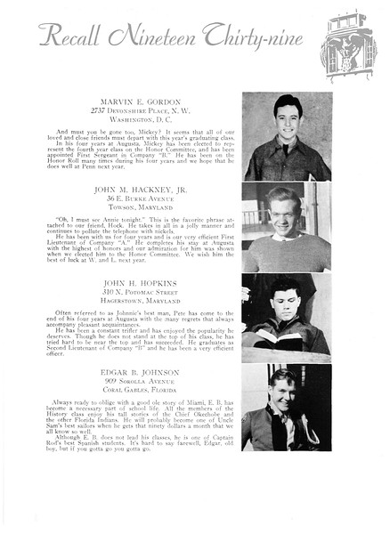 Recall 1939 - AMA Alumni Galleries