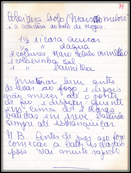 Marshmellow Corbertura Bolo
