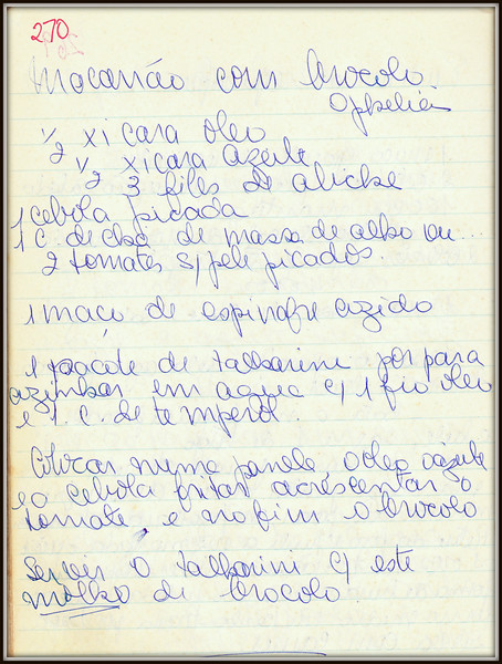 Macarrao com Brocoli (Ophelia)