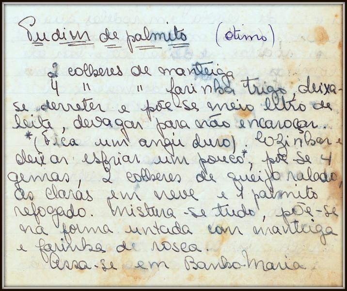 Pudim de Palmito, pagina 1