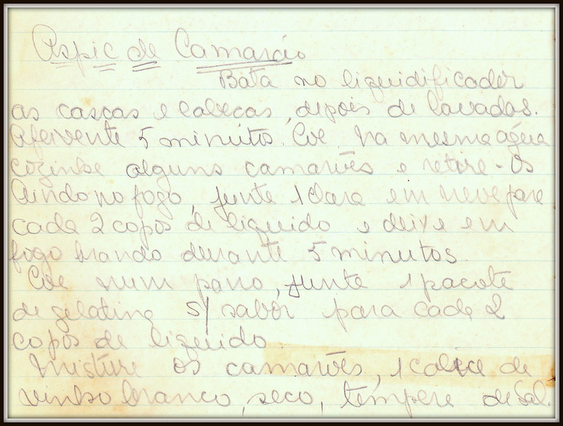 Aspic de Camarao, pagina 1