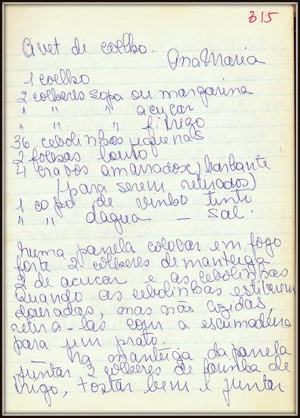 Civet de Coelho (Ana Maria), pagina 1