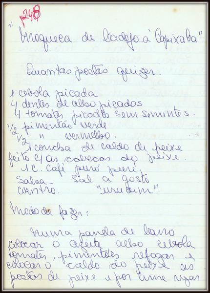Moqueca de Badejo a Capixaba, pagina 1