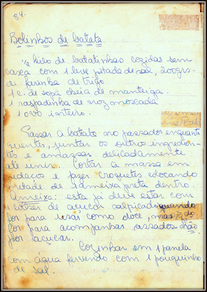 Bolinho de Batata, pagina 1