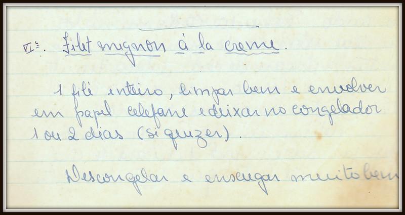 Filet Mignon a la Creme, pagina 1