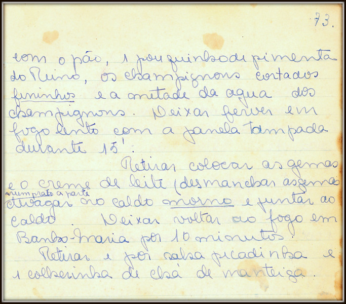 Sopa de Champignon, paigna 3