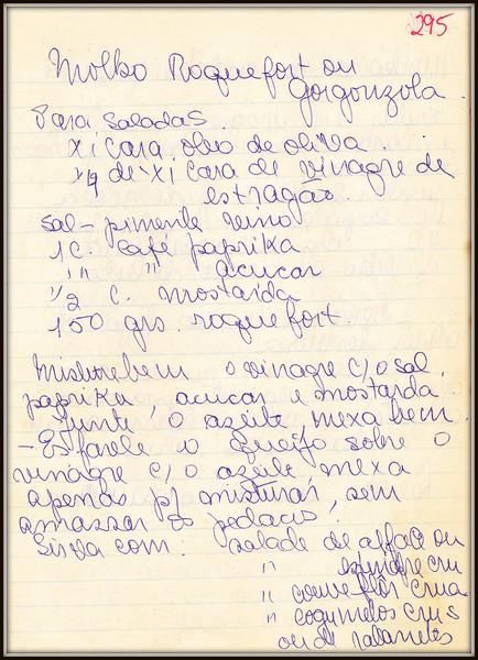 Molho Roquefort ou Gorgonzola