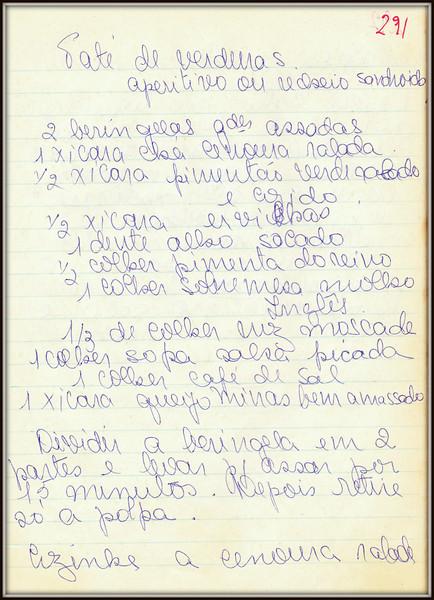 Pate de Verduras (Aperitivo ou Recheio de Sandwich), pagina 1