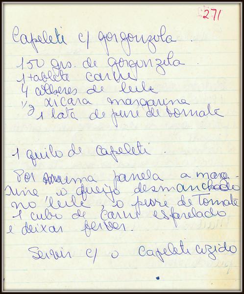 Capelete com Gorgonzola