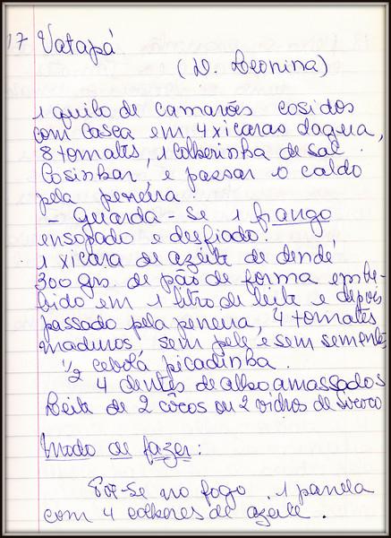 Vatapa de Camarao e Frango, Dona Leonina, pagina 1