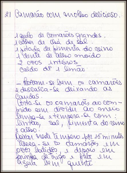 Camarao com Molho Delicioso, pagina 1