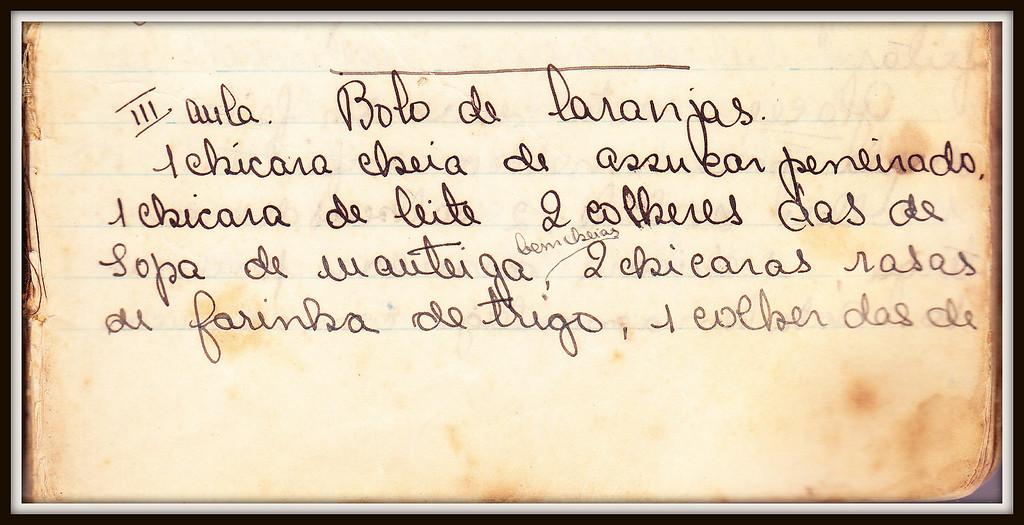 Bolo de Laranjas, pagina 1