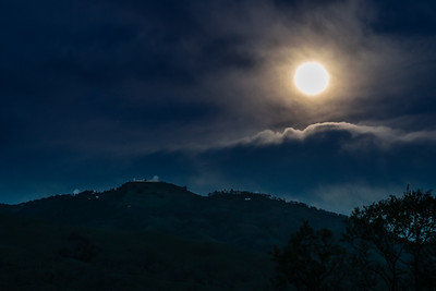 Super Moon over Mt Hamilton
