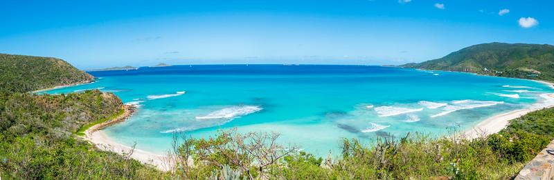 Panorama of Virgin Gorda beach