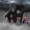 Witch in a storm