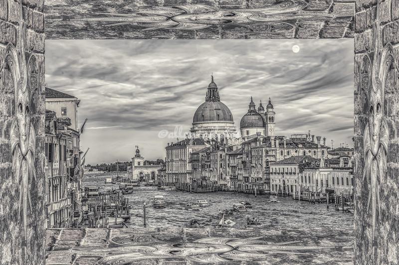 'Framed in Venice'.