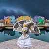 'Carnivale in Burano' on a stormy day.