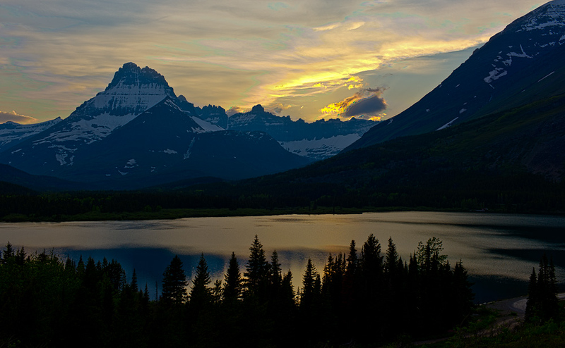 Sunset on Swiftcurrent Lake, Glacier National Park