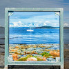 The North Atlantic and entrance to Byfjorden through a frame, Stavanger, Norway