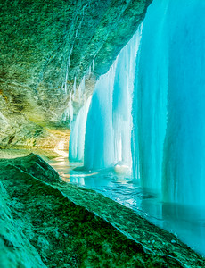 Behind Blue Ice