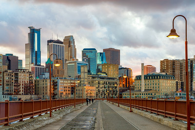 Golden Hour on the Stone Arch Bridge