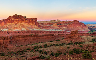 Sunset at Capitol Reef