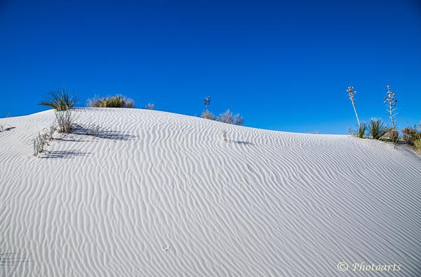 White Sand Ripples to Sky