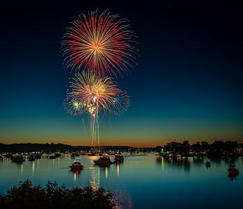 Fireworks at Dusk