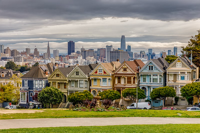 Afternoon View From Alamo Square Park
