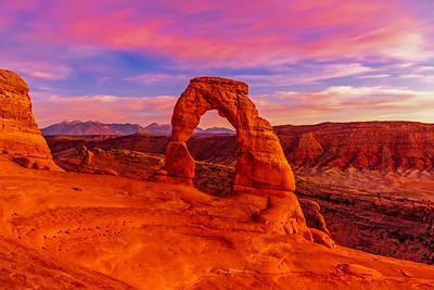 Pink Sky, Red Rocks