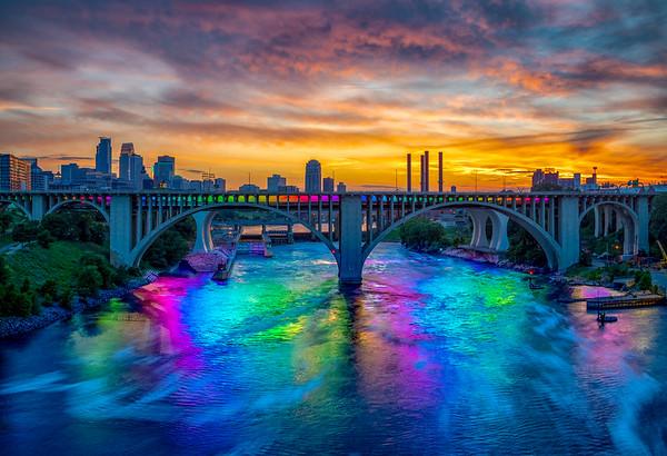 Sunset on Pride Weekend