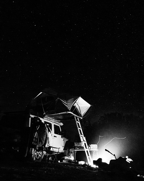 Under the stars by the fire.<br /> <br /> Camera: Canon 7D <br /> Shutter Speed: 29 sec<br /> Aperture: f/5.6<br /> ISO: 3200<br /> .<br /> .<br /> .<br /> .<br /> .<br /> .<br /> .<br /> .<br /> .<br /> .<br /> .<br /> #overlandkitted #rooftoptent #overland #4x4 #jeep #jku #wrangler #4x4camping #camping #nationalparkphotography #automotivephotography #goexplore #vanlife #vanlifexplorers #adventurelifestyle #adventure #gobijeepregistry #rooftoptentliving #astrophotography #nightphotography #stars #campfire #adventurelifestyle