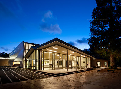 Menlo School Gym, Atherton, CA.Kevin Hart Architecture, Vance Brown Builders. Gymnasium Main Entry