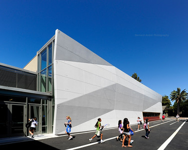 Menlo School Gym, Atherton, CA.Kevin Hart Architecture, Vance Brown Builders. Side Entry