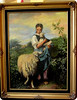 Oil painting requested by Grace - girl with lamb