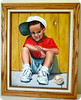 Oil painting of Dylan about age 6