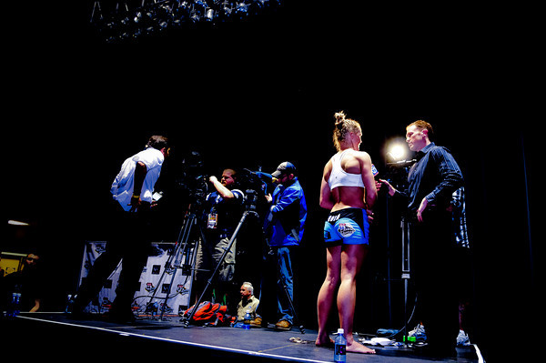 WORLD CHAMPION BOXER HOLLY HOLM AFTER HER MMA DEBUT WIN, 2011