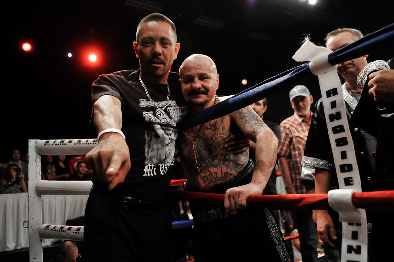 JOHNNY TAPIA WITH CLOSE FRIEND ANTHONY MONTOYA AFTER FIGHT, 2011