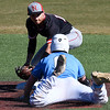 NOC Enid's T.J. Black tags out SE Nebraska's Masen Prososki at second base Saturday February 11, 2017 at David Allen Ballpark. (Billy Hefton / Enid News & Eagle)