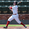 NOC Enid's Griffin Keller watches the ball clear the  wall for a grand slam honerun against Murray State during the Region 2 tournament Monday May 15, 2017 at David Allen Memorial Ballpark. (Billy Hefton / Enid News & Eagle)