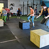 Women take part in a class at CrossFit ReFuel January 17, 2017. (Billy Hefton / Enid News & Eagle)