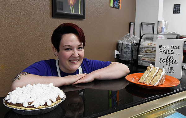Autium Carter of A.J's. Eats and Sweets. The restaurant will be holding its grand opening today with half-priced drinks. (Billy Hefton / Enid News & Eagle)
